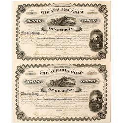 Auraria Gold Mining Company Stock Pair