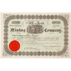 M. Lu Mining Company Stock Certificate