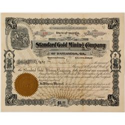 Standard Gold Mining Company of Dahlonega Stock Certificate 1