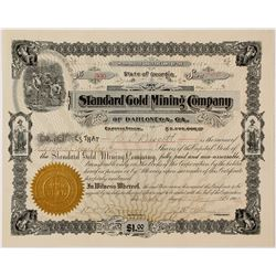Standard Gold Mining Company of Dahlonega Stock Certificate 2