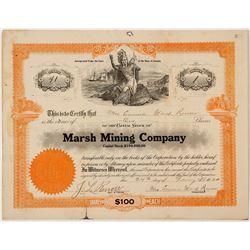 Marsh Mining Company Stock Certificate (Female President!)
