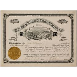 Etowah Gold Mining Company Stock Certificate