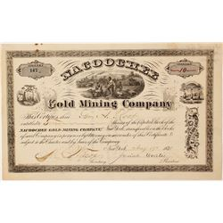 Nacoochee Gold Mining Company Stock Certificate