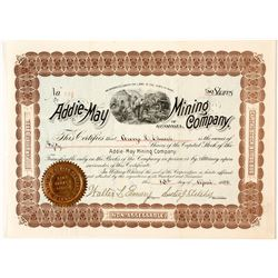 Addie May Mining Company Stock Certificate 2