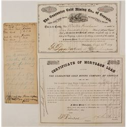 Guarantee Gold Mining Company Collection (Stock, Loan, and Handwritten Document)