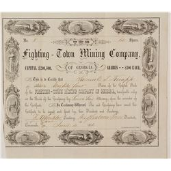 Fighting-Town Mining Company of Georgia Stock Certificate