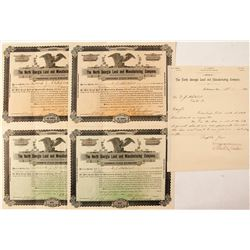North Georgia Land and Manufacturing Company Stock Certificates