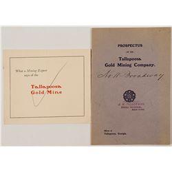 Talapoosa Gold Mining Company Prospectus