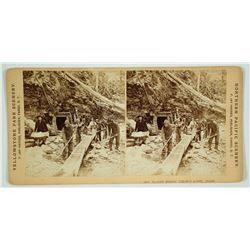 Stereoview of Placer Mining at Coeur D'Alene