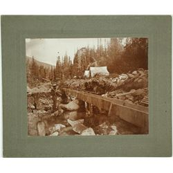 Miners Sluicing Photo, Mullan, Idaho