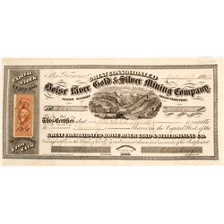 Great Cons. Boise River Gold & Silver Mining Co. Stock Certificate, Idaho Territory, 1864