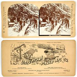 Stereoview of Gold Mining in Idaho