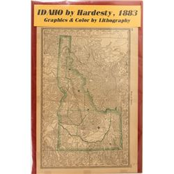1883 Map of Idaho by Hardesty