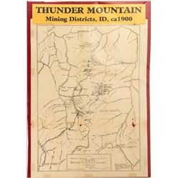 Map of Thunder Mountain Mining Districts, Idaho