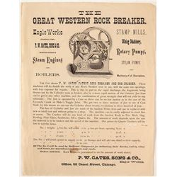 The Great Western Rock Breaker Broadside Advertisement.