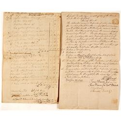 1804 Documents for the Washington Silver Mine--One of America's Earliest Mines