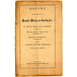 Hampton Mining & Smelting Co. Report, 1863