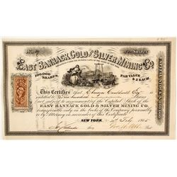 East Bannack Gold & Silver Mining Co. Stock Certificate, Bannack City, Montana, 1865