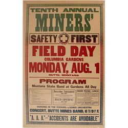 Broadside Miners' Field Day, Columbia Gardens