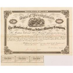 Montana Gold and Silver Mining Company Loan Bond