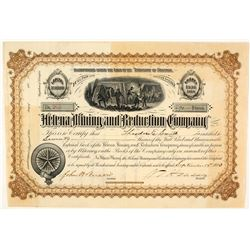 Helena Mining & Reduction Company Stock Certificate, 1883