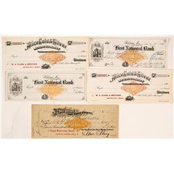Montana & Colorado Revenue Imprinted Mining Checks