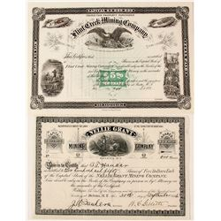 Two Territorial Montana Mining Stock Certificates: Nellie Grant and Flint Creek