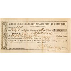 Green Rock Gold & Silver Mining Co. Assessment, 1863, Aurora