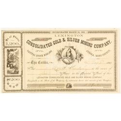 Lexington Consolidated Gold & Silver Mining Company, Aurora, 1863