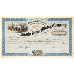 Austin Silver Mining Company of Nevada Proof Stock Certificate, c.1865