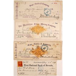 Five Different Austin, Nevada Mining Checks
