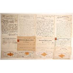 Manhattan Silver Mining Co. Check & Mining Document Collection (Austin, Nevada)