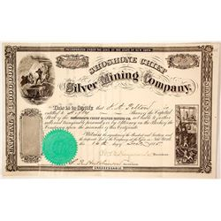 Shoshone Chief Silver Mining Co. Stock Certificate, 1865