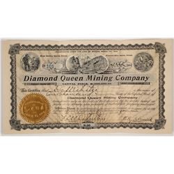 Diamond Queen Mining Company Stock Certificate