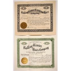 Two Bullfrog Banner Stock Certificates