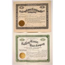 Two Bullfrog Banner Stock Certificates