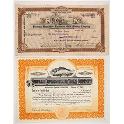 Two Bullfrog Area Stock Certificates