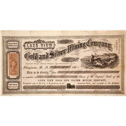 Lake View Gold & Silver Mining Co. Stock Certificate, Desert Mining District, Nevada Territory, 1864