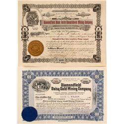 Two Diamondville, Nevada Stock Certificates