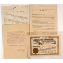 Gold Center Stock Certificate and Ephemera Collection