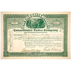Gold Creek, Nevada Consolidated Lodes Company Stock Certificate