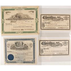 Gold Reef Stock Certificate Collection