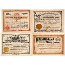 Four Goldfield, Nevada Stock Certificates