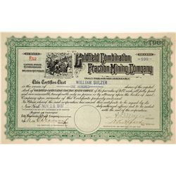 Goldfield Combination Fraction Mining Company Stock Certificate