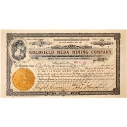 Goldfield Meda Mining Company Stock Certificate: Wingfield Collection