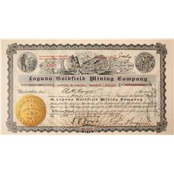 Laguna Goldfield Mining Company Stock Certificate: Wingfield Collection