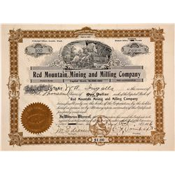 Red Mountain Gold Mining and Milling Company Stock Certificate - with a Twist