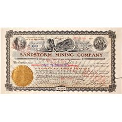 Sandstorm Mining Company Stock Certificate: Wingfield Collection