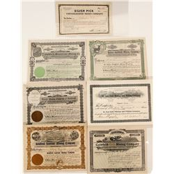 Seven Goldfield Stock Certificates