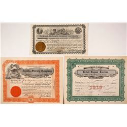 Three Goldfield Stock Certificates Associated with Sheriff Ingalls